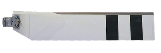 UH-1 tail rotor blade with rounded doublers